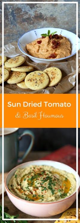 Sun Dried Tomato and Basil Houmous - thecookandhim.com
