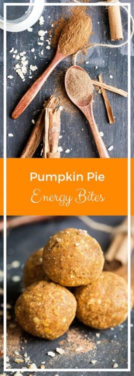Pumpkin Spice Energy Bites - raw and vegan | thecookandhim.com