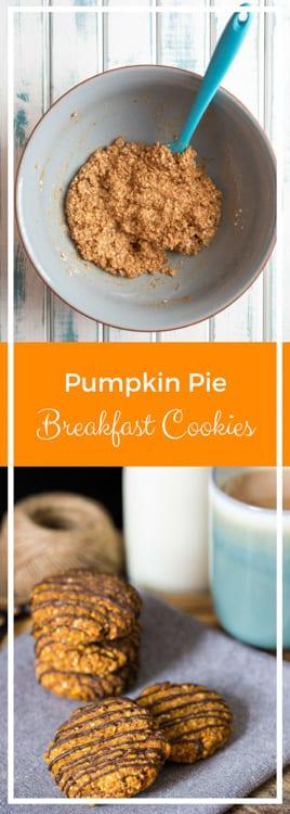 Pumpkin Pie Breakfast Cookies - vegan, gluten free, sugar free | thecookandhim.com
