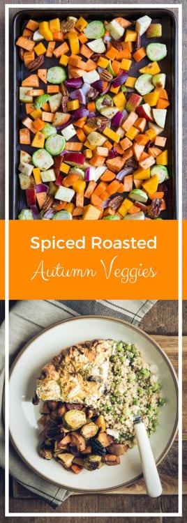 Spice Roasted Autumn Veggies - Vegan, Gluten Free   thecookandhim.com