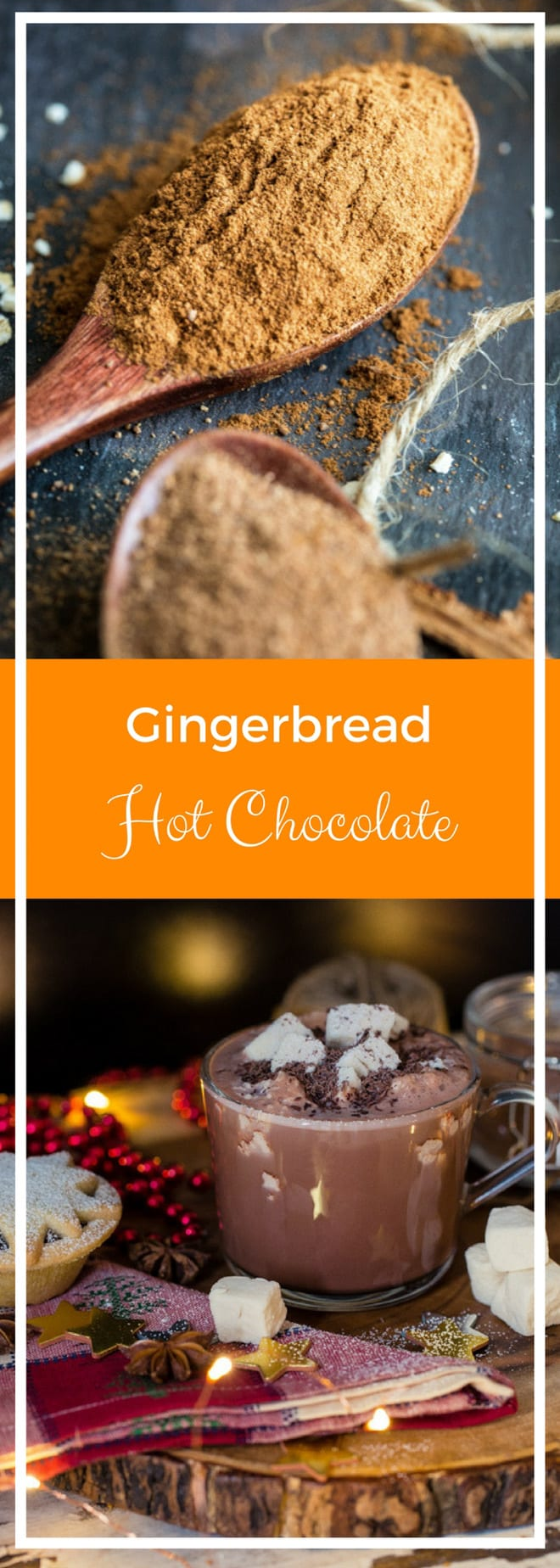 Gingerbread Hot Chocolate - How to make your own vegan chocolate mix for a gloriously rich, festive and warming drink | thecookandhim.com