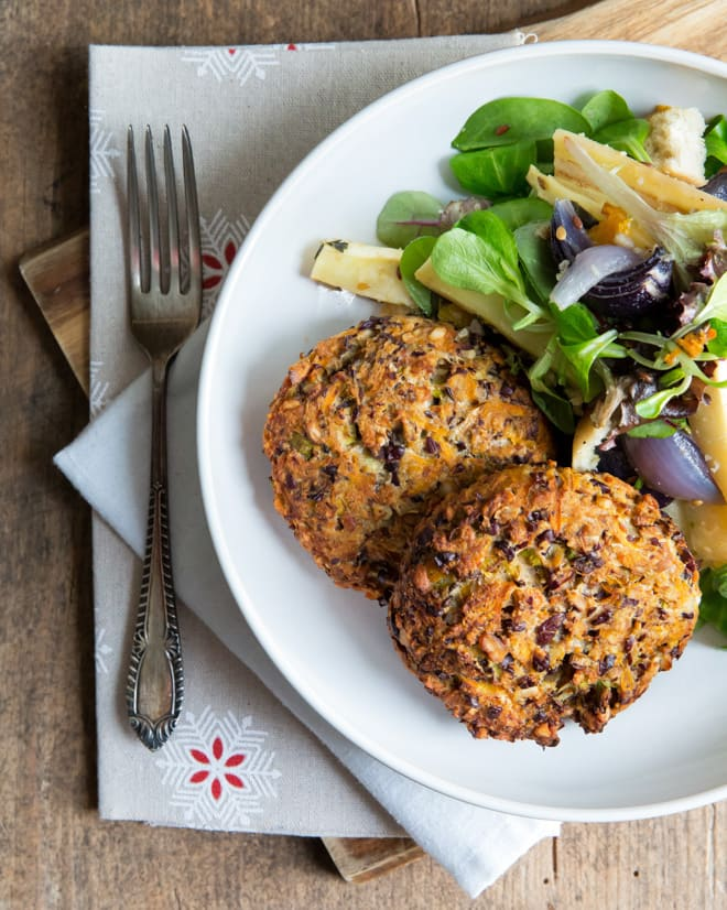 Baked Haricot Bean and Vegetable Fritters