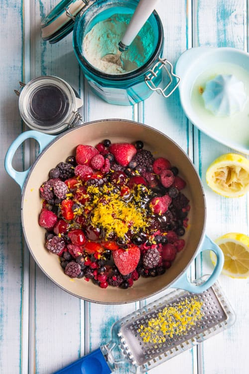 Ingredients for chia seed and berry jam | thecookandhim.com