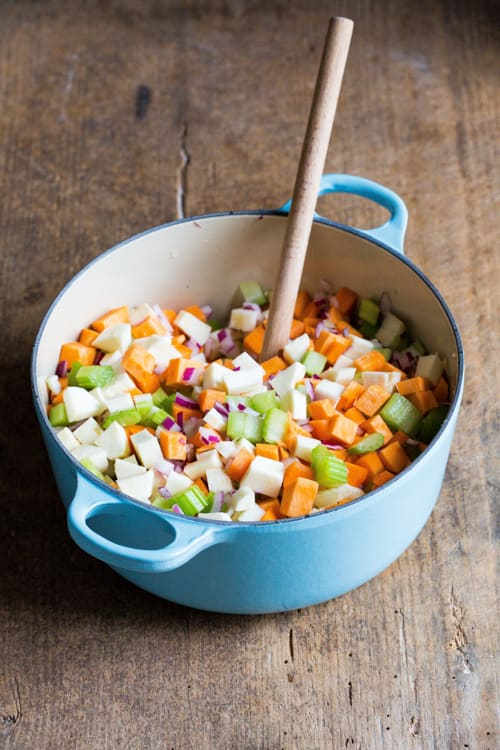 Ingredients for Hearty Vegetable Soup | thecookandhim.com