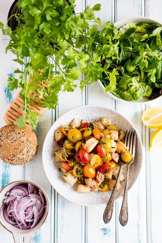 Herb and Lemon Tomato Salad