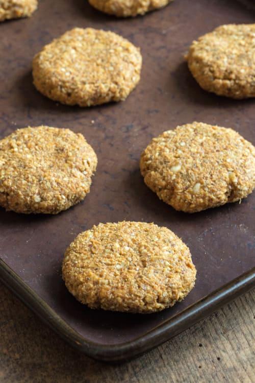 Shaping the raw mixture for Pumpkin Pie Breakfast Cookies - vegan, gluten free, sugar free | thecookandhim.com