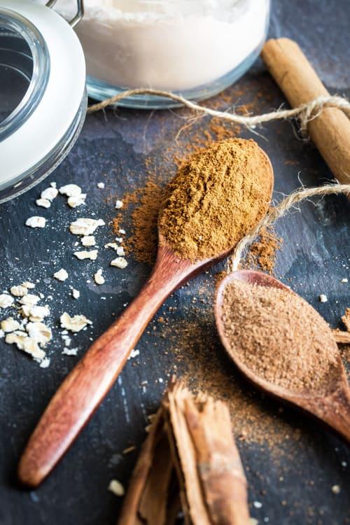 Ingredients for Pumpkin Spice Energy Bites - raw and vegan | thecookandhim.com