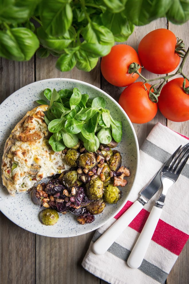 Roasted Sprouts, Grapes and Walnuts