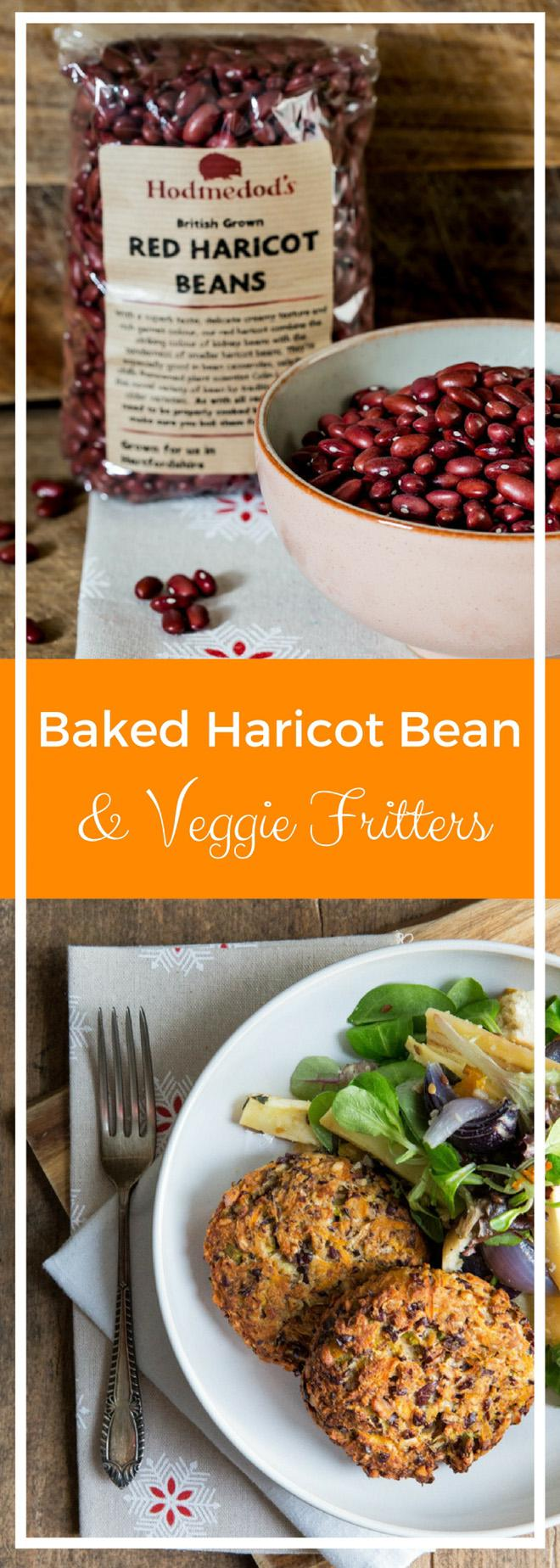 Baked Haricot Bean and Vegetable Fritters - Packed with protein from Hodmedods Red Haricot Beans and loads of veggie freshness and taste | thecookandhim.com
