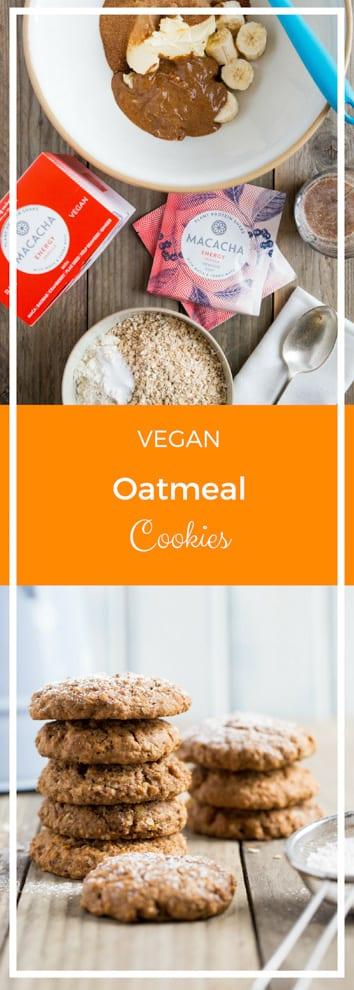 Oatmeal Cookies - soft, delicate cookies with chewy oats and hints of sweet vanilla #vegancookies #oatmealcookies #proteincookies   Recipe on thecookandhim.com