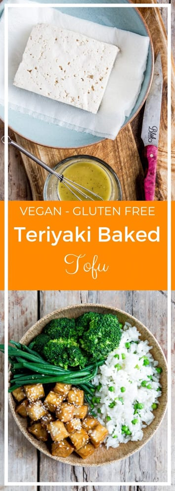 Teriyaki Baked Tofu - better than takeout but easy and quick enough for a weeknight meal, this crispy teriyaki baked tofu is a little bit sweet, a little bit savoury and so delicious! #teriyaki #bakedtofu #tofu #veganmeals | Recipe on thecookandhim.com