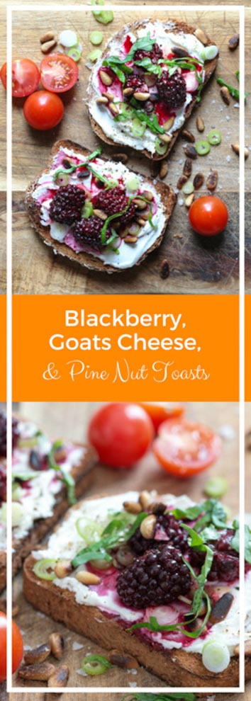 Zingy autumn flavours in this deliciously light and quick lunch or brunch! #brunchrecipes #blackberries #goatcheese #toast | Recipe on thecookandhim.com