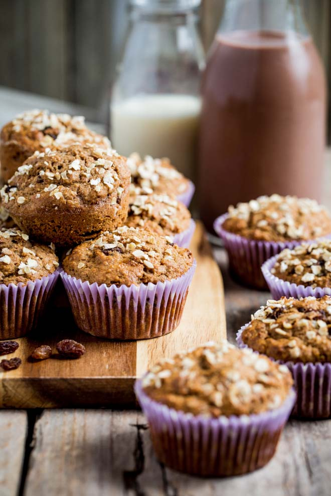 Start your day with a feel-good muffin! A few easy tweaks mean a freshly baked healthy breakfast muffin won't derail your diet! #muffins #breakfastmuffins #healthymuffins #healthybananamuffins #veganmuffins | Recipe on thecookandhim.com
