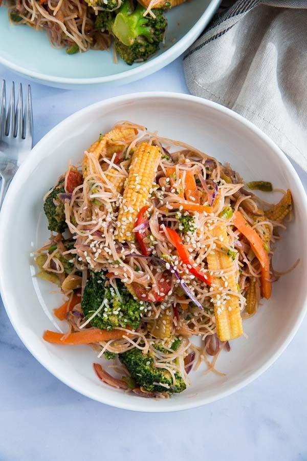 Sesame Noodles and Veggies