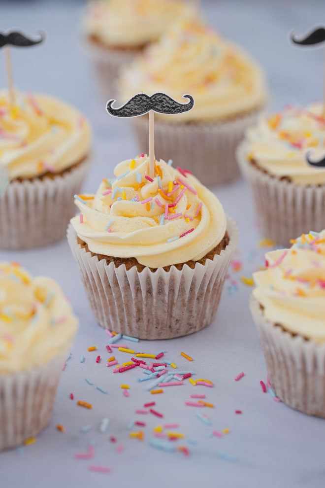 Funfetti Cupcakes with Vegan Buttercream