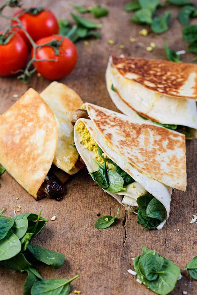 Vegan Folded Breakfast Wraps