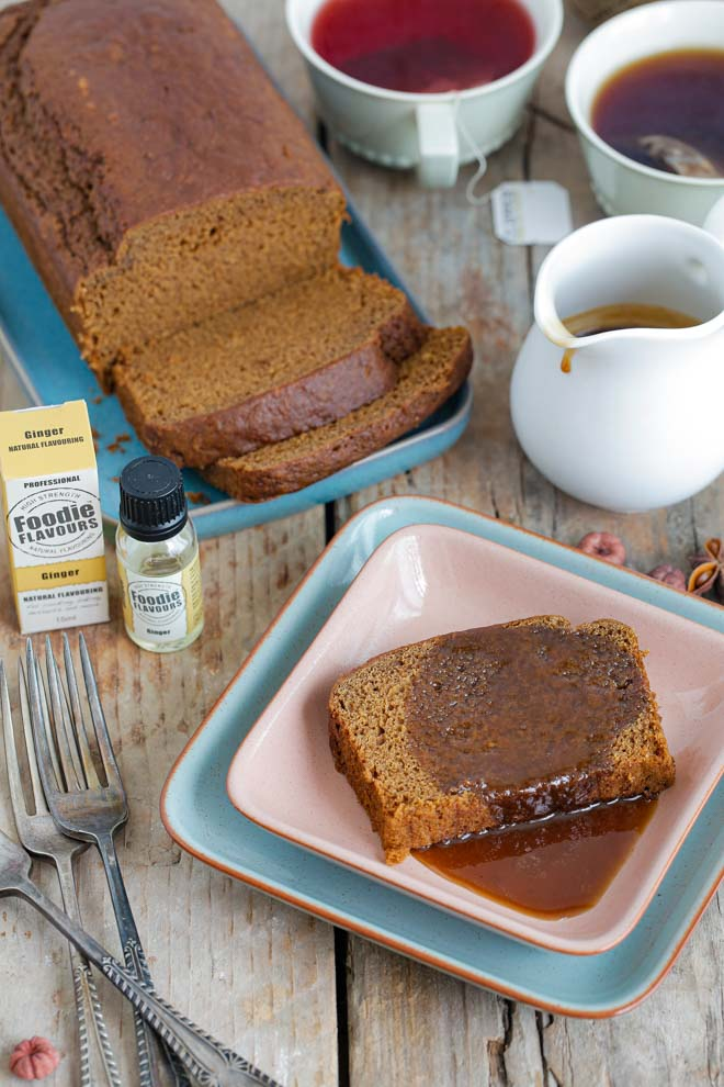 Soft and squidgy, this Jamaican Ginger Cake is made extra special with a velvety sweet toffee sauce, turning a deliciously humble cake into an epic sticky pudding! #jamaicangingercake #vegancake #veganbaking #stickycake #stickytoffeepudding #veganrecipe #vegantoffeesauce | Recipe on thecookandhim.com